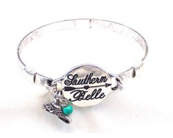 Silver Southern Belle Wire Wrap Bracelet
