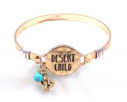 Gold Desert Child Wire Wrap Bracelet