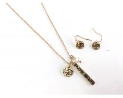 Gold Louisiana Coordinate Necklace Set