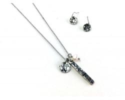 Silver Alabama Coordinate Necklace Set
