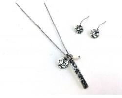 Silver Texas Coordinate Necklace Set