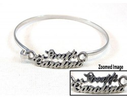 Silver South Carolina Script Hook Bracelet
