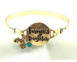 Gold Farmers Daughter Wire Wrap Bracelet