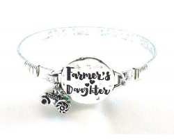 Silver Farmers Daughter Wire Wrap Bracelet