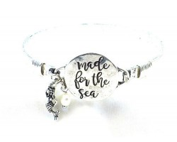 Silver Made For The Sea Wire Wrap Bracelet