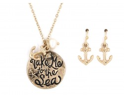 Gold Take Me to the Sea Necklace Set