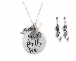 Silver Made For The Sea Necklace Set