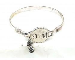 Silver So Fine Pineapple Wire Wrap Bracelet