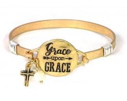 Gold Grace Upon Grace Wire Wrap Bracelet