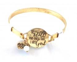 Gold Be Still Wire Wrap Bracelet