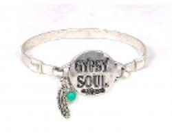 Silver Gypsy Soul Wire Wrap Bracelet