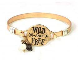 Gold Wild and Free Wire Wrap Bracelet