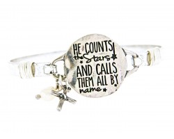 Silver He Counts The Stars Wire Wrap Bracelet
