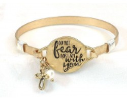 Gold Do Not Fear Wire Wrap Bracelet