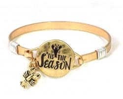 Gold Tis the Season Crawfish Wire Wrap Bracelet