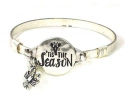 Silver Tis the Season Crawfish Wire Wrap Bracelet
