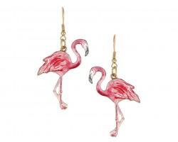 Pink Flamingo Hook Earrings