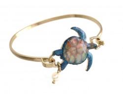 Sea Turtle Gold Hook Bracelet