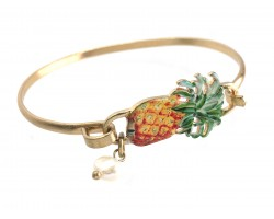Yellow Pineapple Gold Hook Bracelet