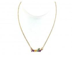 Mardi Gras NOLA Script Necklace