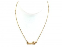 Gold NOLA Script Necklace