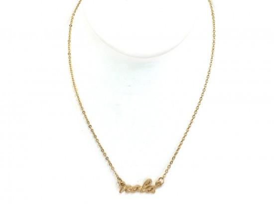 Gold NOLA Script Necklace