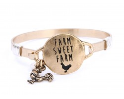 Gold Farm Sweet Farm Wire Wrap Bracelet
