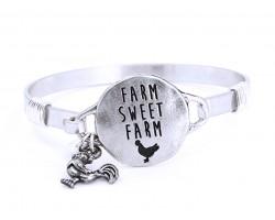 Silver Farm Sweet Farm Wire Wrap Bracelet