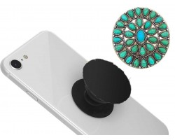 Turquoise Stone Self Adhesive Phone Grip Charm