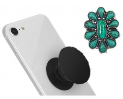 Turquoise Stone Flower Self Adhesive Phone Grip Charm