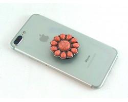 Pink Stone Sunburst Self Adhesive Phone Grip Charm