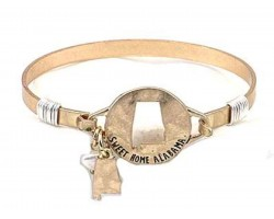 Gold Sweet Home Alabama Wire Wrap Bracelet