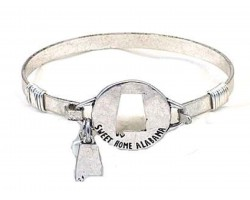 Silver Sweet Home Alabama Wire Wrap Bracelet