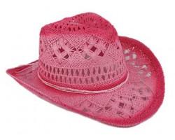 Fuchsia Cowboy Western Hat Burnt Open Cut