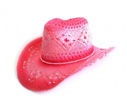 Crystal Fuchsia Cowboy Western Hat Burnt Open Cut