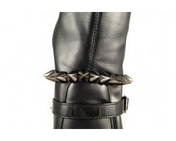 Spike and Tiered Chain Gunmetal Shoe Boot Jewelry