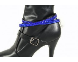 Sapphire Crystals Flat Wrap Shoe Boot Jewelry