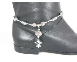 Silver Angel Charm Shoe Boot Jewelry