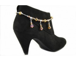 Light Colorado Topaz Crystal Rondelle Charm Shoe Boot Jewelry