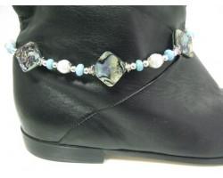 Abalone Diamond Charm Shoe Boot Jewelry
