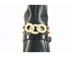 Gold Plate Ring Chain Cry Wrap Shoe Boot Jewelry
