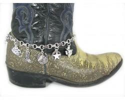 Silver Western Charms Shoe Boot Jewelry