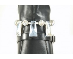 Clear AB Crystal 3 Trapezoid Drop Shoe Boot Jewelry
