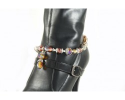 Smoked Topaz AB Teardrop Chain Shoe Boot Jewelry