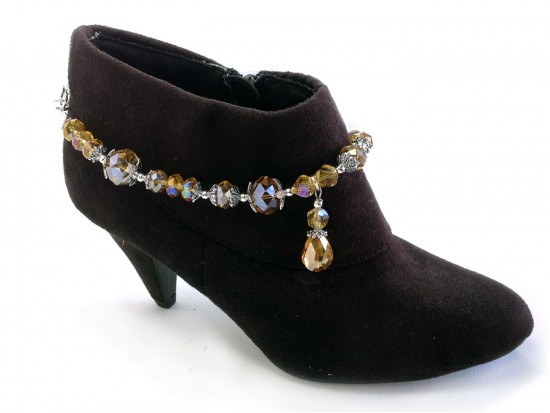 LCT Teardrop Cryst Chain Shoe Boot Jewelry