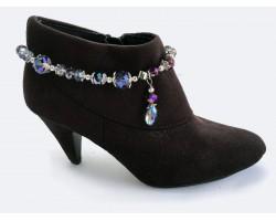 Light Purple Teardrop Crystal Chain Shoe Boot Jewelry