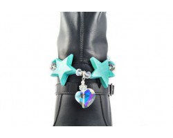 Turquoise 2 Stars Love of My Heart Shoe Boot Jewelry