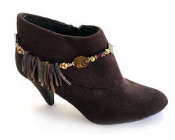 Brown Gold Pin Shell Boot Shoe Jewelry