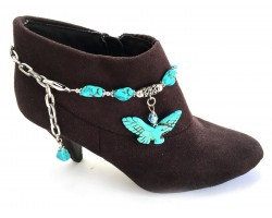 Turquoise Stone Eagle Nugget Boot Jewelry
