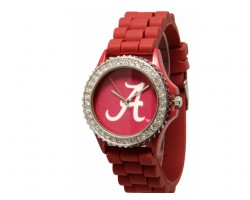 Alabama Crimson Tide Large Silicone Crystal Watch